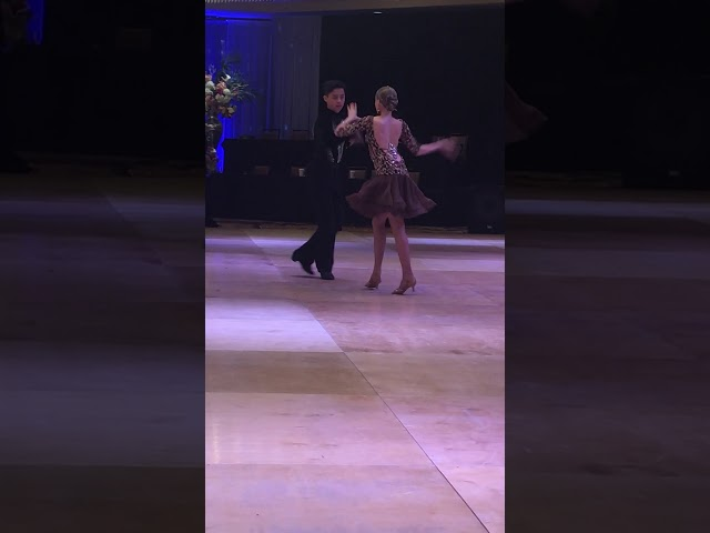 Anthony and Eva competing the Cha Cha!