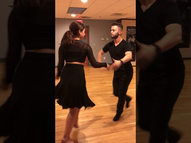Zhanna Sheyner dancing the Jive with Allen!
