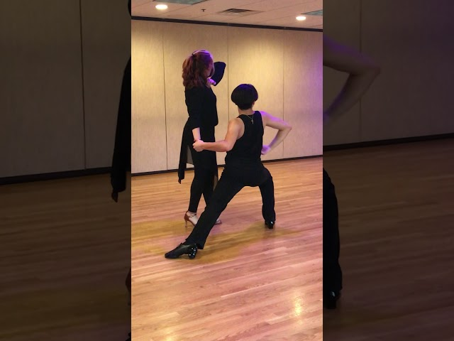Dorian & Damiena practicing their Rumba