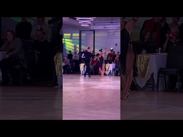 Ava Sarram dancing the Samba with Nikita Vasilenko at Boston DanceSport Cup!