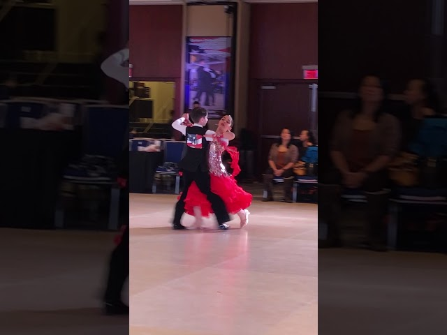 Raymond and Ava dancing the Tango at the Eastern Dancesport Championships!
