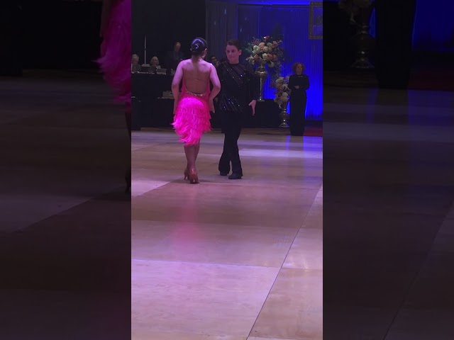 Raymond and Ava dancing the Paso Doble!