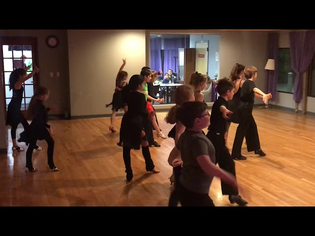 Silver Latin Group Class Cha Cha Routine