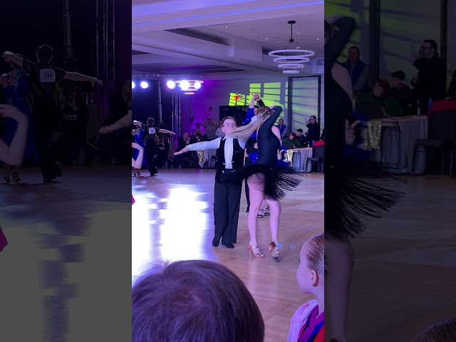Max Malkevich dancing his Rumba with Karolina Ioukhnikov at Boston DanceSport Cup!
