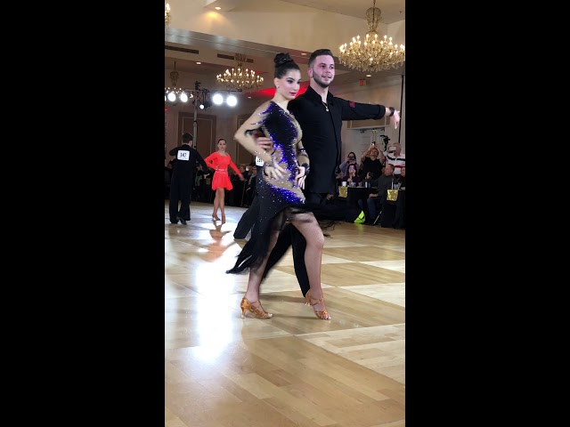 Silvia with Allen dancing the Rumba at the Boston DanceSport Cup 2019!